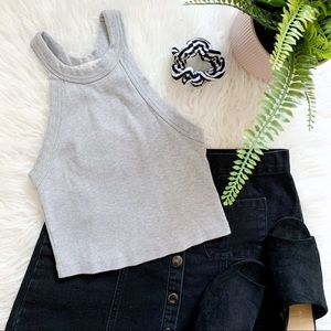 Urban Outfitters Truly Madly Deeply Gray crop tank